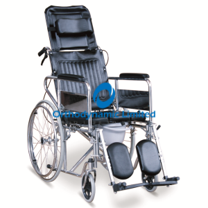Reclining Commode Wheelchair