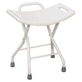Ergonomically Designed Folding Bathroom Stool