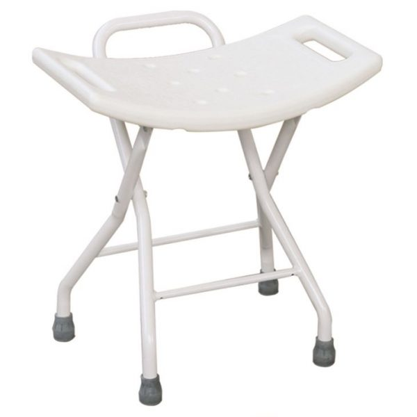 Ergonomically Designed Folding Bathroom Stool
