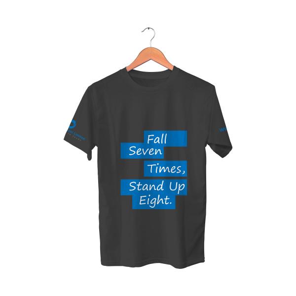 Black T-Shirt | Fall seven times