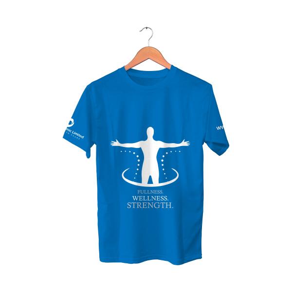 Blue T-Shirt   Fullness wellness strength