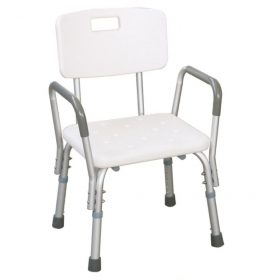 Adjustable Height Shower Benches With Armrests & Backrest