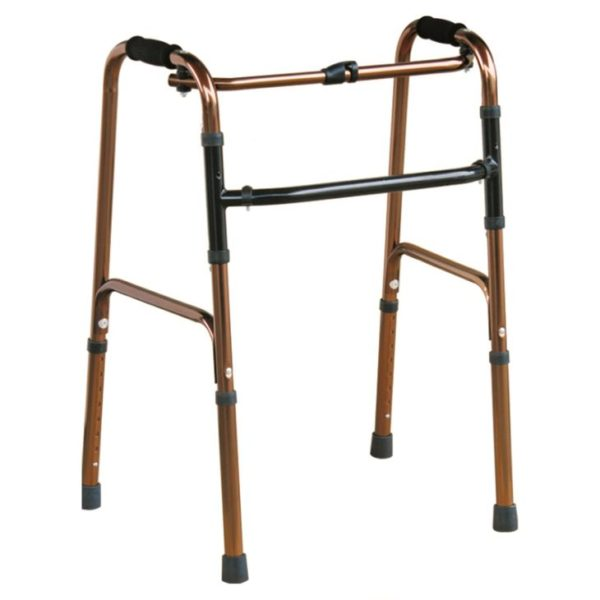 Button Folding Walker With & Height Adjustable