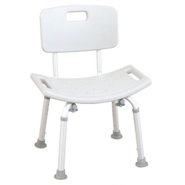 Ergonomically Designed Bath Chair With Tool-Free Detachable Frame