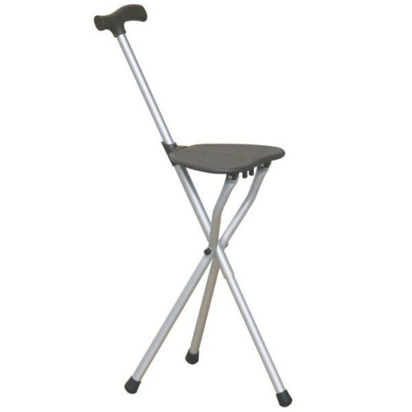 Folding Seat Cane With Stool