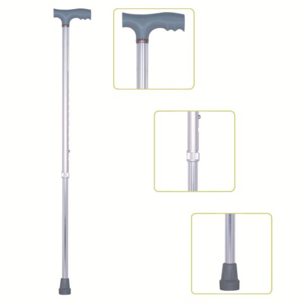 Height Adjustable Lightweight T-Handle Walking Cane