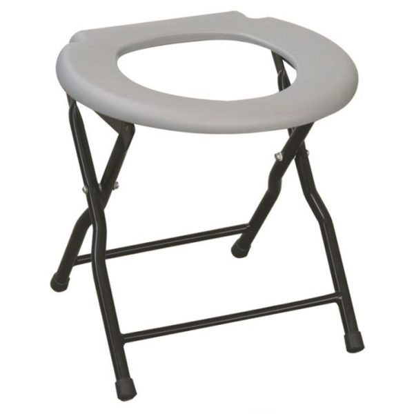 Simple Folding Steel Commode Chair