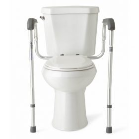 Adjustable Toilet Seat Support Frame
