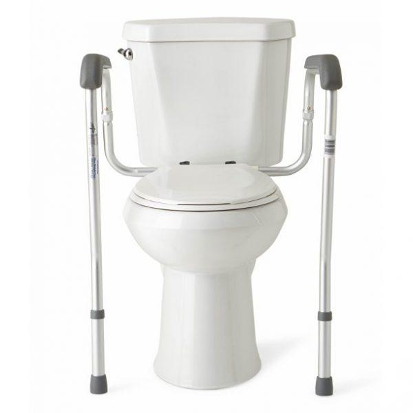 Adjustable Toilet Seat Support Frame