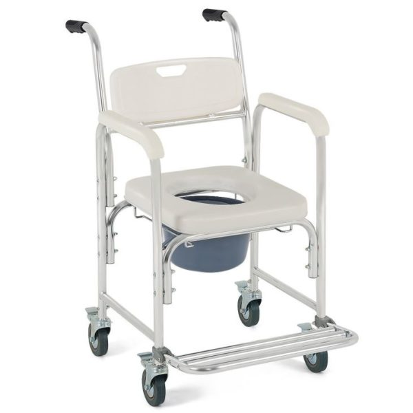 2 in1 bath chair with wheels