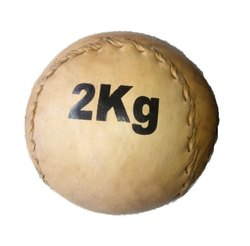 Brown Leather Medicine Ball 2 KG