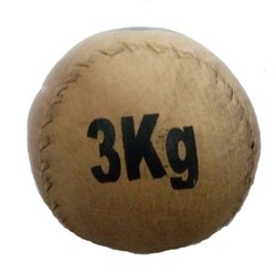 Brown Leather Medicine Ball 3 KG