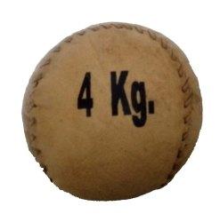 Brown Leather Medicine Ball 4 KG
