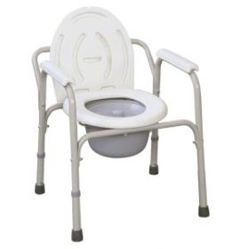 Commode Chair With Plastic Armrests-JL810
