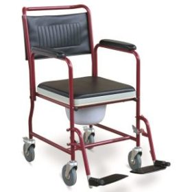 commode seat with wheels