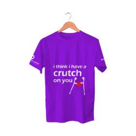 Purple T-Shirt | I think i have a crutch on you