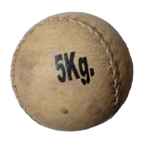 Brown Leather Medicine Ball 5 KG