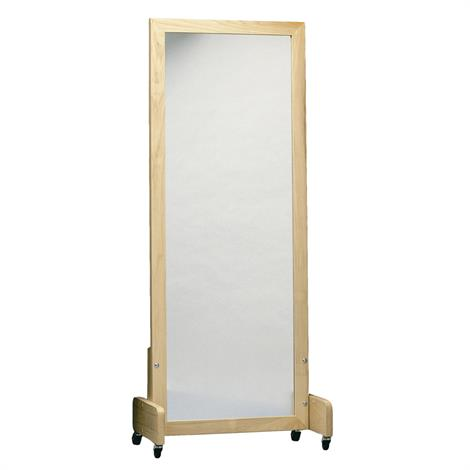 Posture Mirror With Floor Stand And Casters