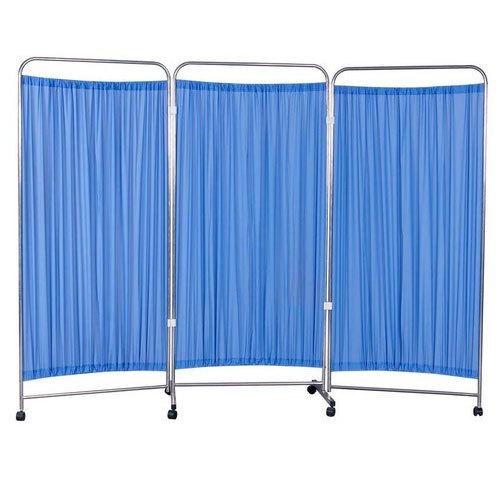 3 Panel folding hospital ward screen
