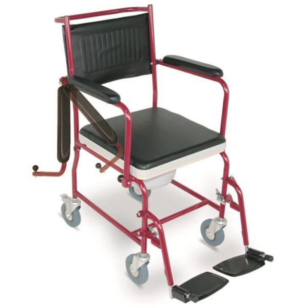 Steel Commode Wheelchair