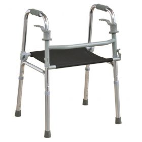 Trigger Folding Seated Walker With Adjustable Height